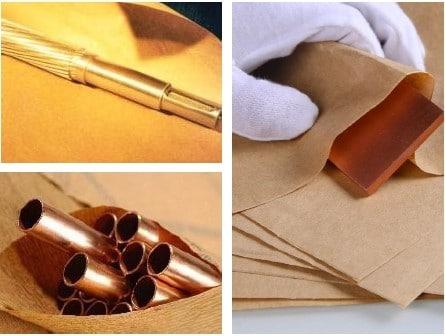 กระดาษกันสนิมกับโลหะทองแดง