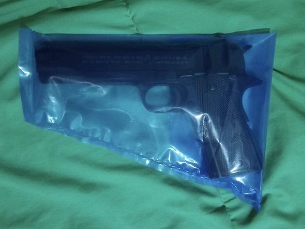 ถุงพลาสติกกันสนิมอาวุธปืนสั้น